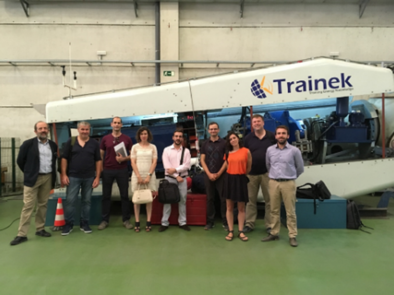 SIMULWIND project team visits Trainek